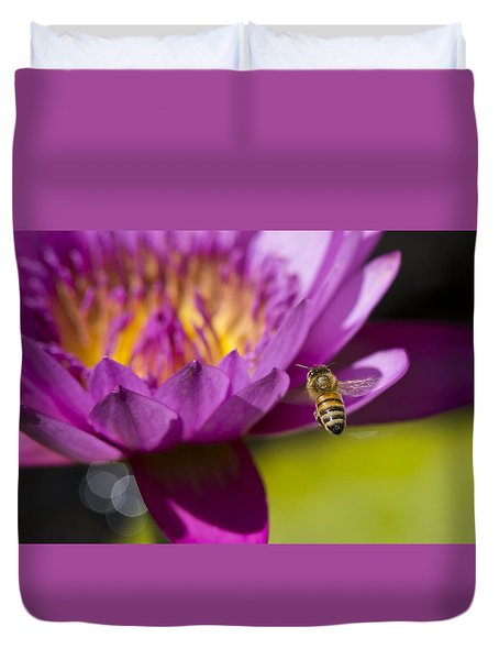 The Promise Of Pollen Duvet Cover by Priya Ghose