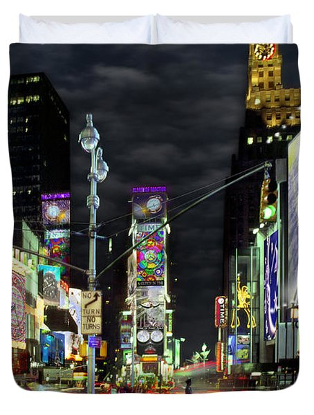 The Real Time Square Duvet Cover by Mike McGlothlen