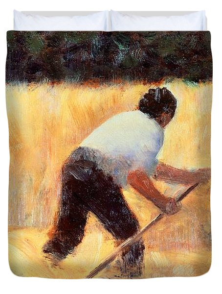 The Reaper Duvet Cover by Georges Seurat