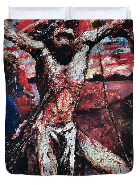 The Red Christ Duvet Cover by Lovis Corinth