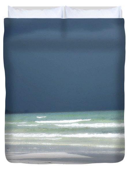 The Red Dress - Beach Art By Sharon Cummings Duvet Cover by Sharon Cummings