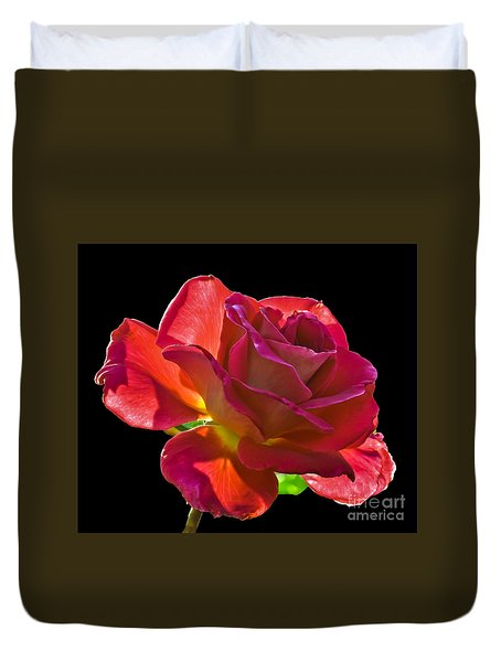 The Red One Duvet Cover by Robert Bales