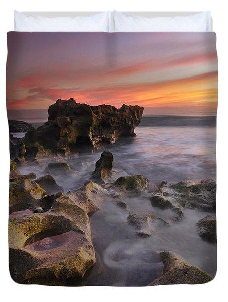 The Reef Duvet Cover by Debra and Dave Vanderlaan