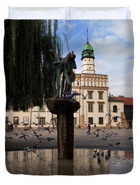 The Renaissance Town Hall And Central Duvet Cover by Panoramic Images