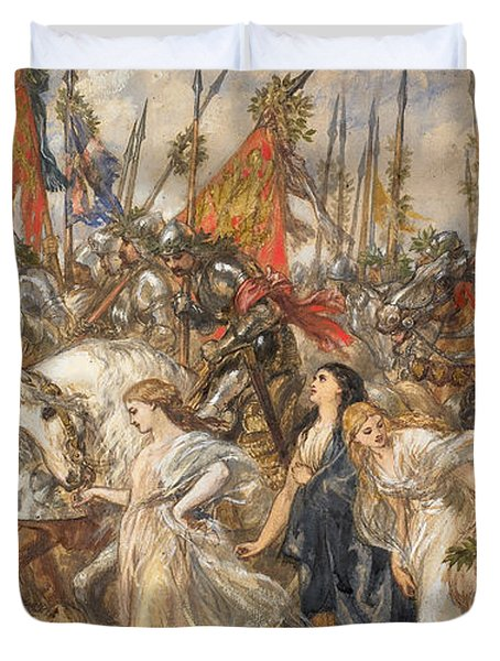The Return Of The Victors Duvet Cover by Sir John Gilbert