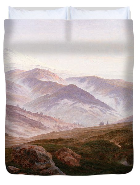 The Riesengebirge  Duvet Cover by Philip Ralley