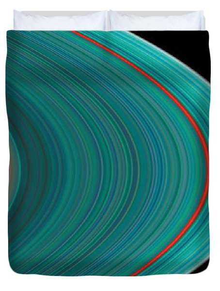 The Rings Of Saturn Duvet Cover by Anonymous
