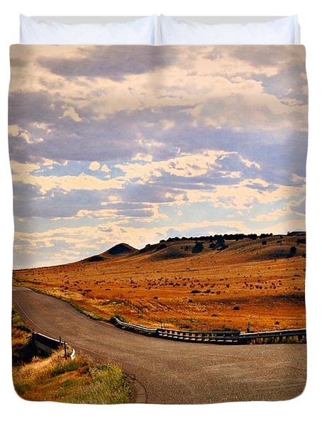 The Road Less Traveled Duvet Cover by Marty Koch