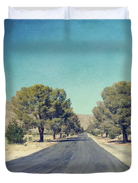 The Roads We Travel Duvet Cover by Laurie Search