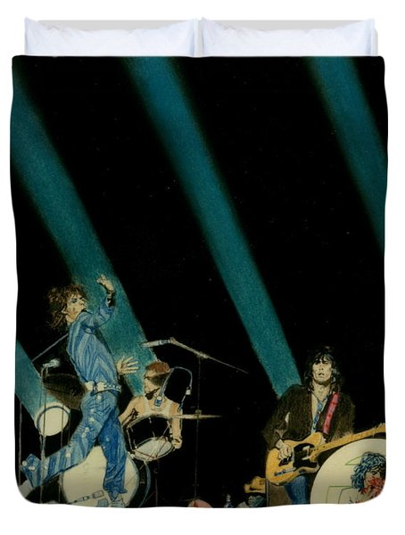 The Rolling Stones - Rip This Joint Duvet Cover by Sean Connolly