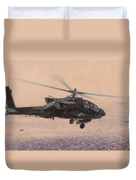 The Sadr City Flying Club Duvet Cover by Wade Meyers