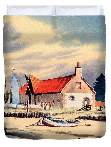 The Sailing Club  Duvet Cover by Bill Holkham