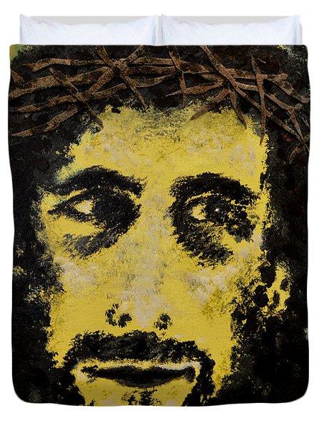 The Savior Duvet Cover by Alys Caviness-Gober