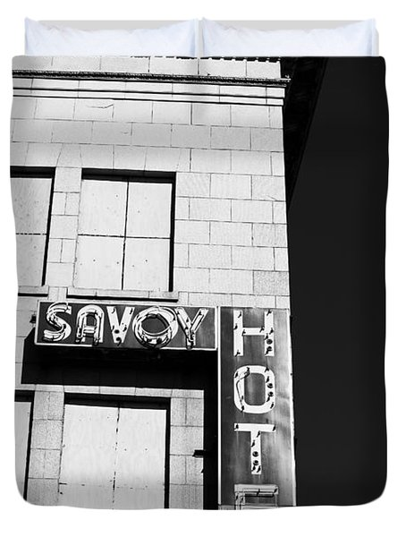 The Savoy Hotel Duvet Cover by Karol Livote
