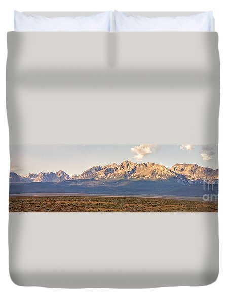 The Sawtooths' Duvet Cover by Robert Bales