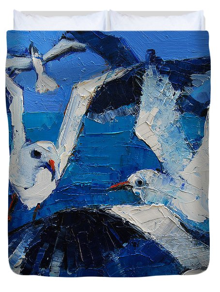 The Seagulls Duvet Cover by Mona Edulesco