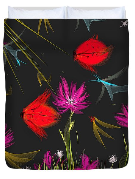 The Secrets Of The Night Duvet Cover by Angela A Stanton