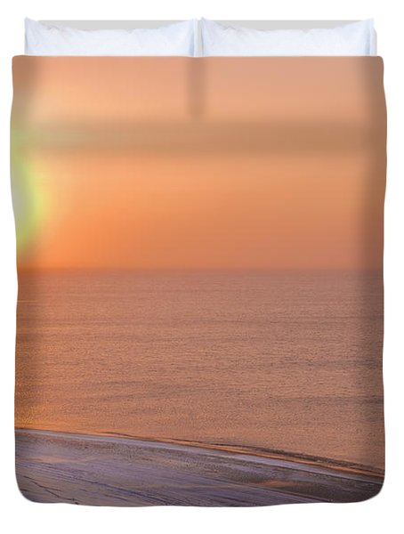 The Setting Sun Shining Through Duvet Cover by Kevin Smith