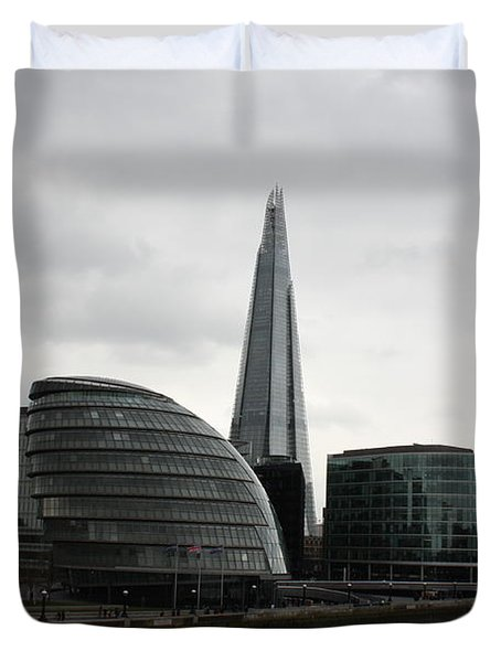 The Shard Duvet Cover by Pat Purdy