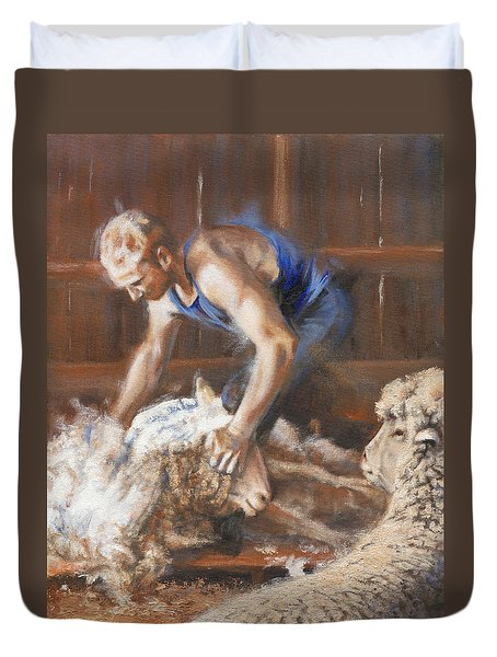The Shearing Duvet Cover by Mia DeLode