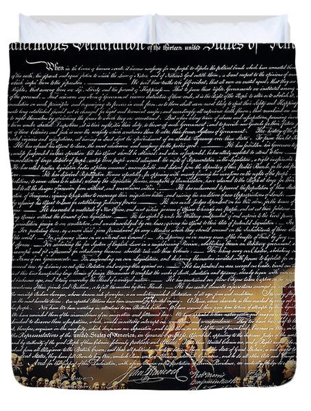 The Signing Of The United States Declaration Of Independence V2 Duvet Cover by Wingsdomain Art and Photography