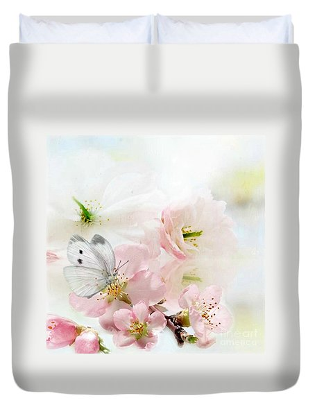 The Silent World Of A Butterfly Duvet Cover by Morag Bates