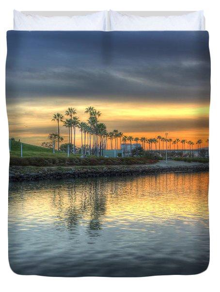 The Sinking Sun Duvet Cover by Heidi Smith