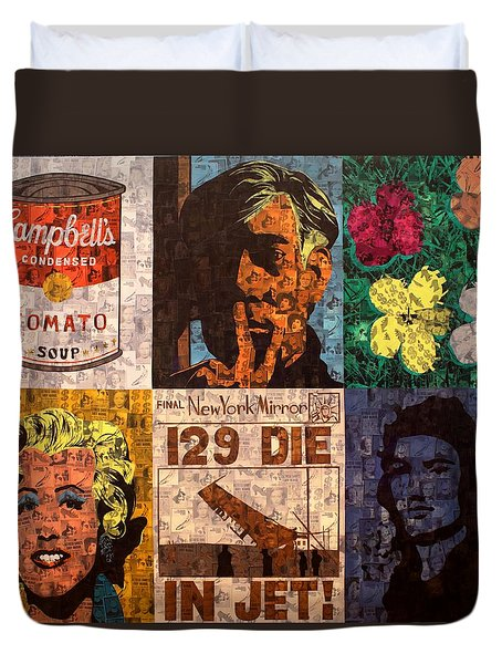 The Six Warhol's Duvet Cover by Brent Andrew Doty