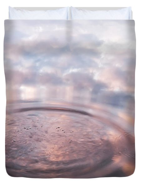 The Sounds Of Silence. Sacred Music Duvet Cover by Jenny Rainbow