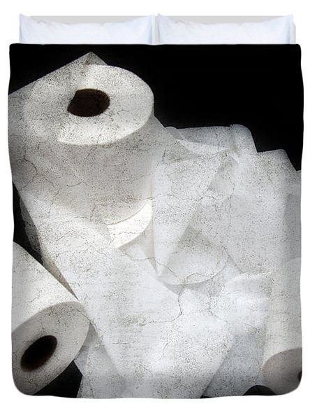 The Spare Rolls 3 - Toilet Paper - Bathroom Design - Restroom - Powder Room Duvet Cover by Andee Design