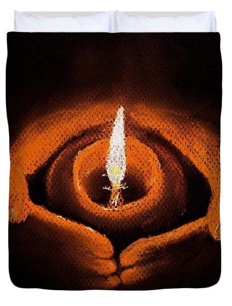 The Spark of Life Duvet Cover by Anastasiya Malakhova