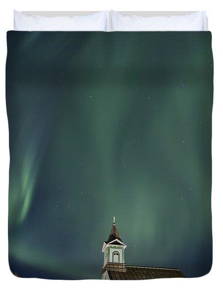 The Spirit of Iceland Duvet Cover by Evelina Kremsdorf