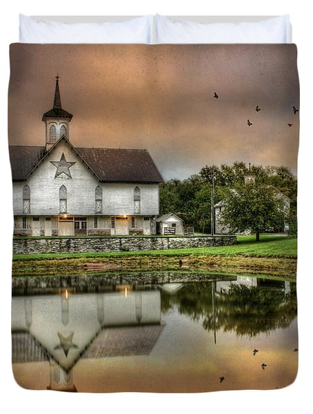 The Star Barn Duvet Cover by Lori Deiter
