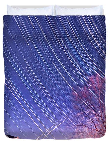The Star Trails Duvet Cover by Paul Ge