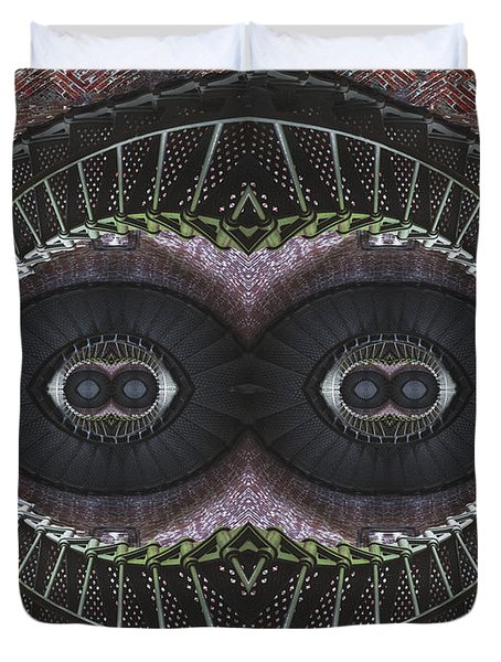 The Stare Duvet Cover by Debra and Dave Vanderlaan