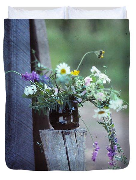 The Still Life Of Wild Flowers Duvet Cover by Patricia Keller