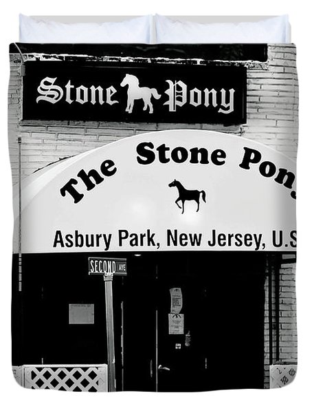 The Stone Pony Asbury Park Nj Duvet Cover by Terry DeLuco