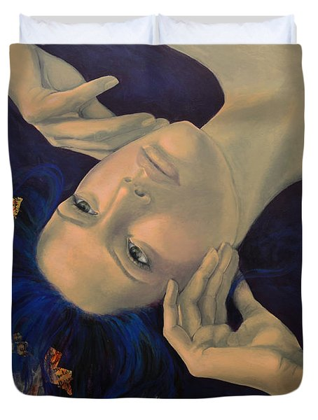 The Story of the Sixth Sense Duvet Cover by Dorina  Costras
