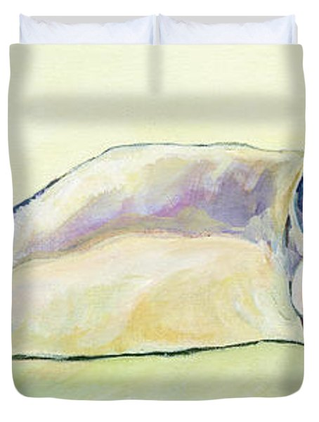 The Sunbather Duvet Cover by Pat Saunders-White