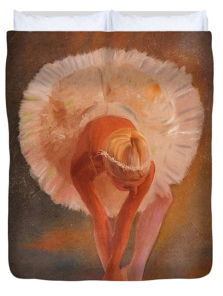 The Swan Warming Up Duvet Cover by Angela A Stanton