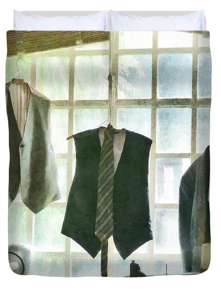 The Tailor Shop Duvet Cover by Steve Taylor