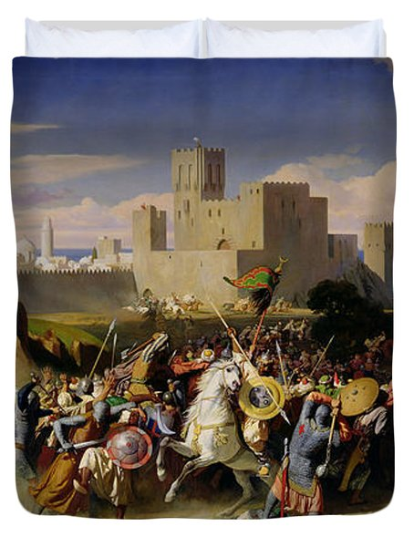 The Taking Of Beirut By The Crusaders Duvet Cover by Alexandre Jean Baptiste Hesse