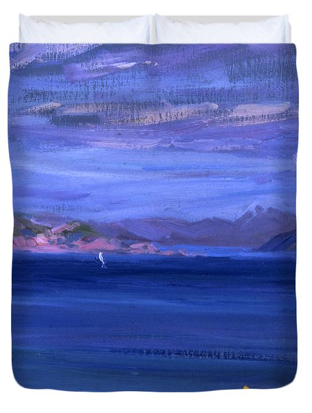 The Tale Of Mull From Iona Duvet Cover by Francis Campbell Boileau Cadell