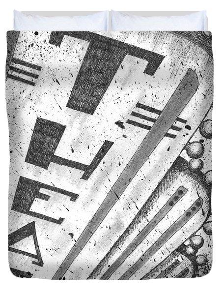 The Theater Duvet Cover by Adam Zebediah Joseph