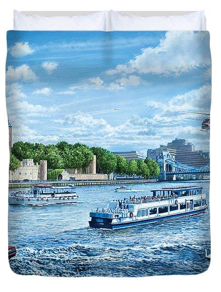 The Tower Of London Duvet Cover by Steve Crisp