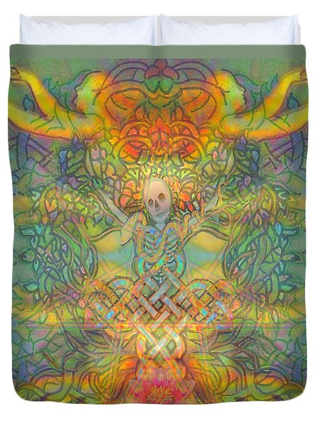 The Tree Of The Knowledge Of Good And Evil Duvet Cover by Hidden  Mountain