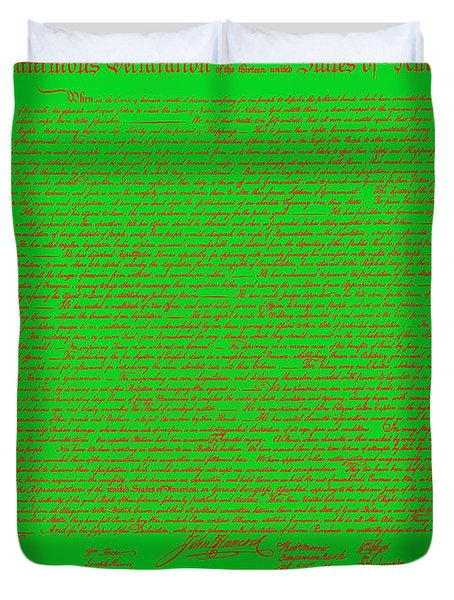 The United States Declaration of Independence 20130215 Duvet Cover by Wingsdomain Art and Photography