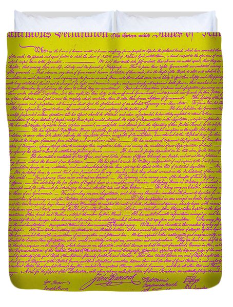 The United States Declaration of Independence 20130215m68 Duvet Cover by Wingsdomain Art and Photography