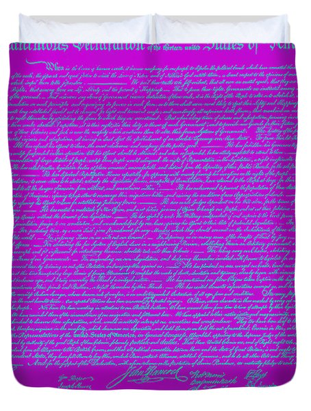 The United States Declaration Of Independence 20130215p168 Duvet Cover by Wingsdomain Art and Photography