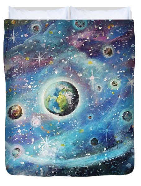 The Universe Is My Playground Duvet Cover by Dariusz Orszulik